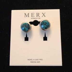 Merx Jewelry - Merx Green Stud Earrings